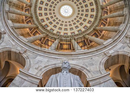 Washington, Usa  - June 23, 2016 - Russel Building Senate Capitol In Washington Dc