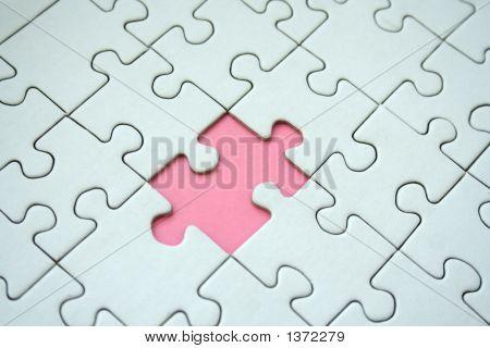 Pink Jigsaw Element