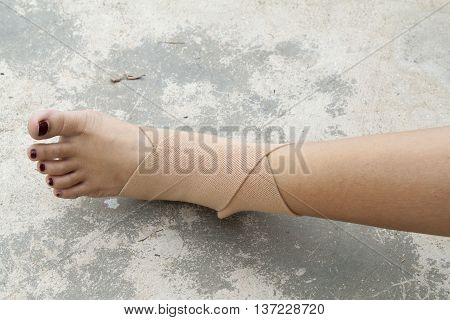 background first aid accident ankle at foot