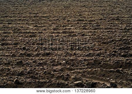 farmland prepared for plowing in the fall