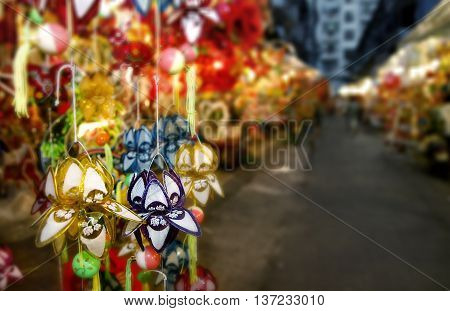 Mid autumn lantern for children on the street