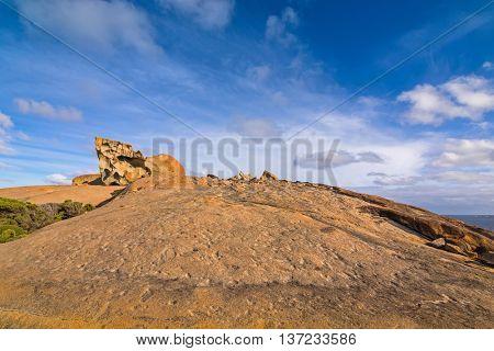 Remarkable Rocks, natural rock formation at Flinders Chase National Park. One of Kangaroo Island's iconic landmarks, South Australia