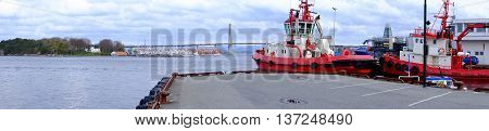 Water Tugs In The Port