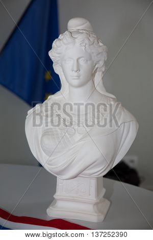 White Bust Of Marianne, Symbol Of France And French Republic