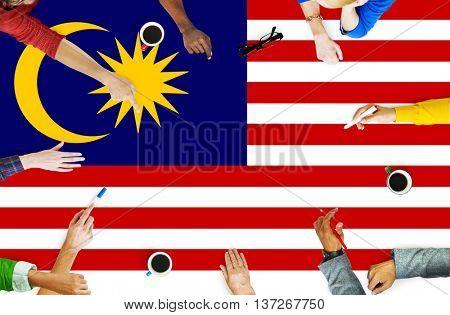 Malaysia Country Flag Liberty National Concept
