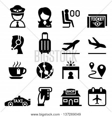 Airport & Aviation icon  Vector illustration Graphic design
