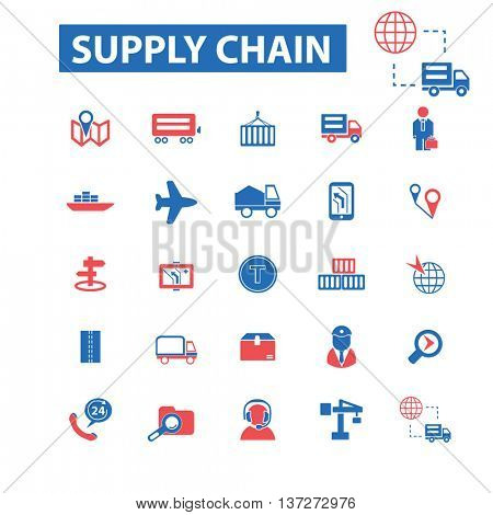 supply chain icons concept vector
