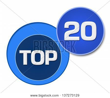 Top 20 text written over blue circular background.