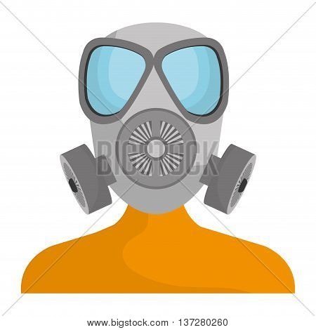 Industrial security equipment isolated icon, vector illustration graphic design.