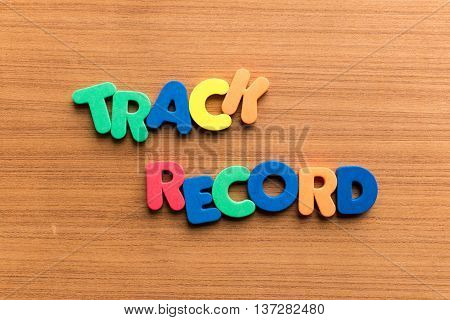 Track Record Colorful Word
