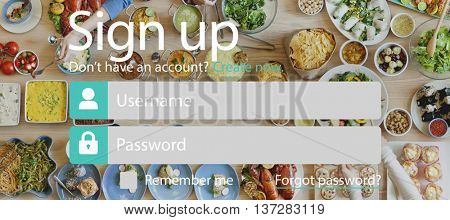 Sign Up Account Password Username Concept