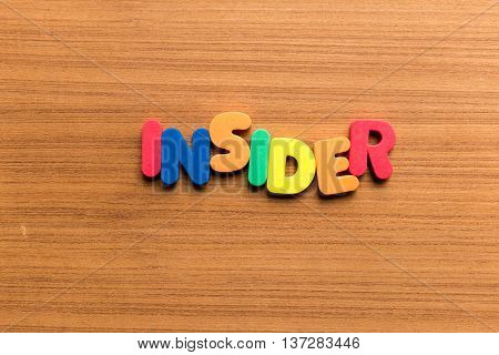 Insider Colorful Word