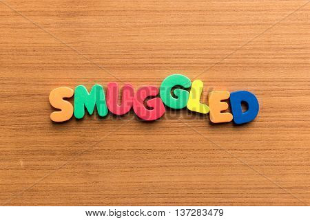 Smuggled Colorful Word