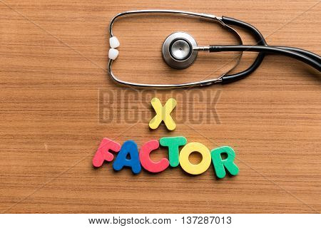 X Factor Colorful Word With Stethoscope