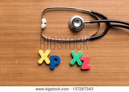 Xp Xz Colorful Word With Stethoscope