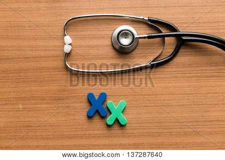 Xx Colorful Word With Stethoscope
