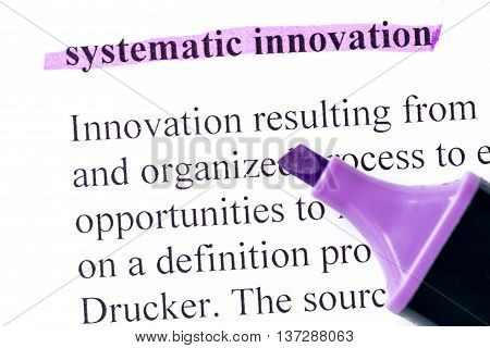 Systematic Innovation Word Highlighted