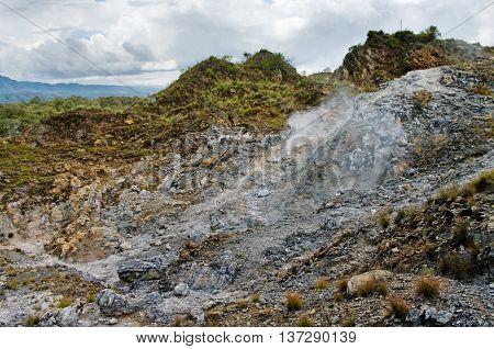Volcanic Landscape. Hells Gate National Park, Kenya