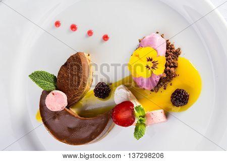 Chocolate Souffle And Ice Cream