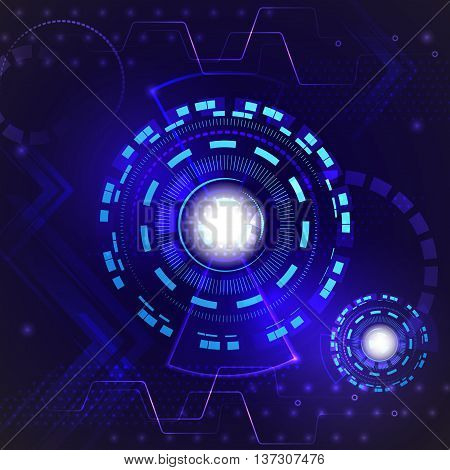 Abstract hi speed internet technology background. Digital technology innovation concept. Vector illustration.