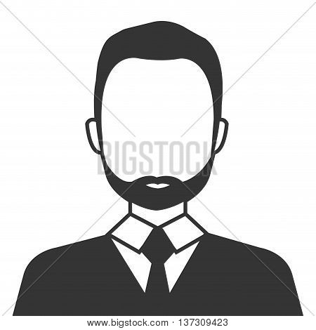 Businessman profile in black ands white colors, vector illustration design.