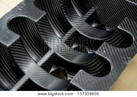 Black carbon fiber Kevlar composite material background