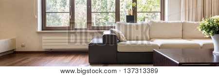 Luxurious Living Room With Large Sofa