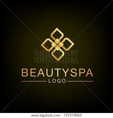 Beauty Flower spa logo design. Vector and Illustration.