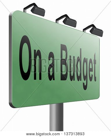 Budgeting the income for deficit or on a budget with a restricted amount of money. Household budget Average revenue and expediture, 3D illustration, isolated, on white