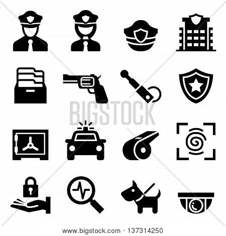 Police & Security guard icon Vector illustration Graphic design