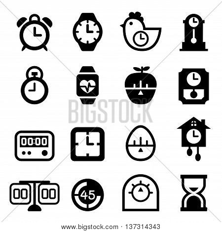 time icon set  Vector illustration Graphic design