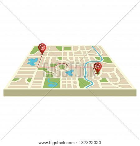 Orienteering equipment isolated icon, vector illustration graphic design.