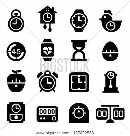 Time and Clock icon Vector illustration Graphic design