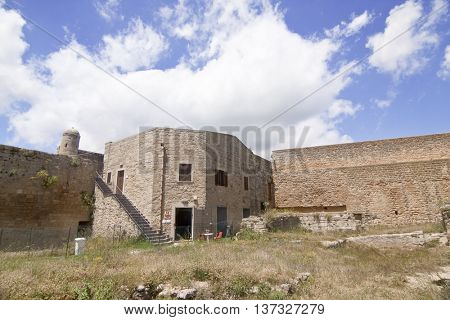 View of Lombardy Castle: Saint Nicholas courtyard. Enna, Sicily.