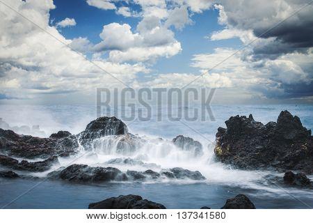 Easter Island Rocky Coast.