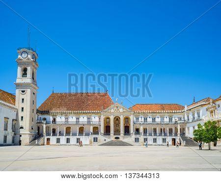 Patio Das Escolas Of The Coimbra University, Portugal.