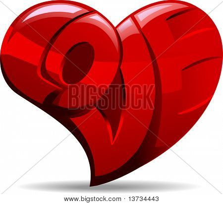 Illustration of a Heart with the Word Love Carved Unto it