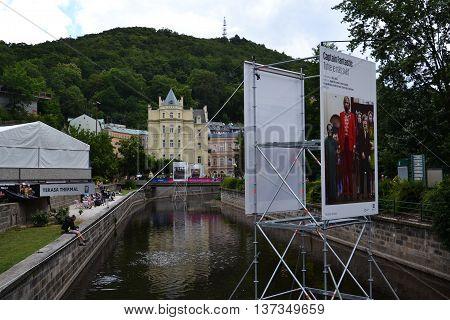 Karlovy Vary, Czech Republic - July 3: People On Streets During Karlovy Vary International Film Fest