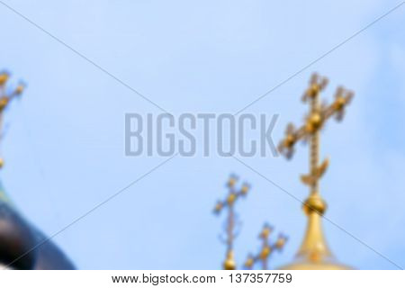 photographed close-up of the Orthodox Church, located in Grodno, Belarus, Defocus