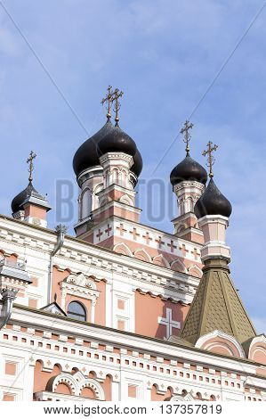 photographed close-up of the Orthodox Church, located in Grodno, Belarus