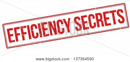 Efficiency Secrets Rubber Stamp