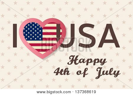 4Th Of July Background. Fourth Of July Felicitation Classic Postcard. Usa Happy Independence Day Gre
