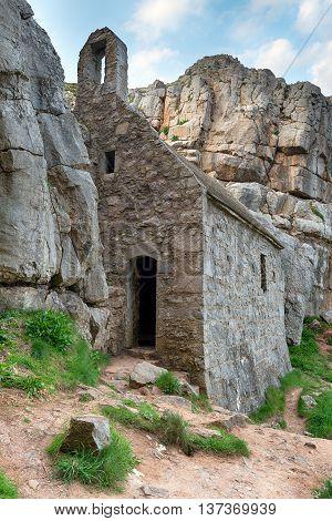 St Govan's Chapel In Wales