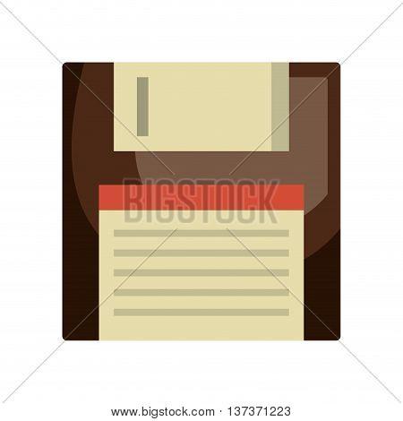 Diskette icon symbolizing save button, vector illustration graphic.