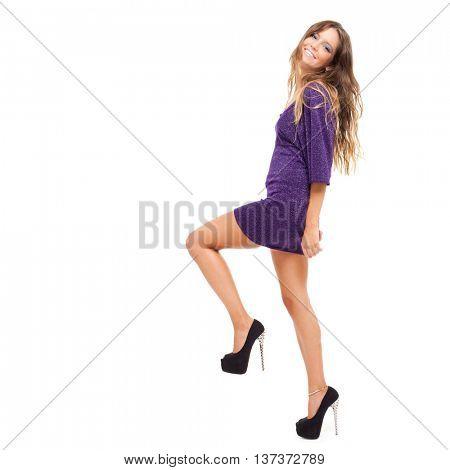Beautiful woman full length portrait