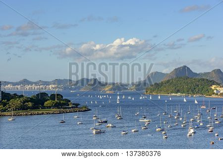View of Botafogo cove and entrance of Gauanabara bay