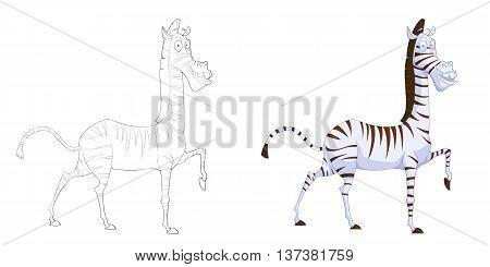 Zebra. Coloring Book, Outline Image & Photo | Bigstock