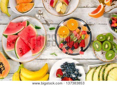 Fresh Fruits Background.