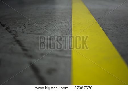 Road and yellow line in the middle of the road