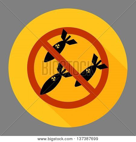 Vector image of anti war concept. No bombing sign.